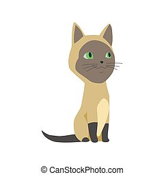 fourrure, kittie, mignon, dessin animé, vecteur, chat, illustrations., coloré, ou