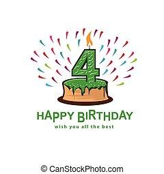 fourth birthday illustration