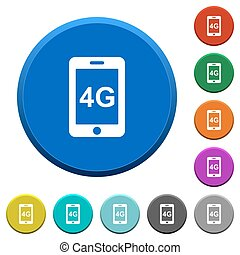 Fourth generation mobile network beveled buttons