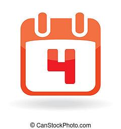 Fourth July Calendar Date