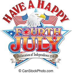 Fourth July Eagle vector graphic