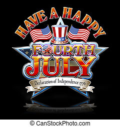 Fourth July Hat graphic b - Have a happy Fourth July Star...
