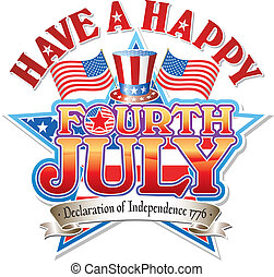 Fourth July Hat vector graphic