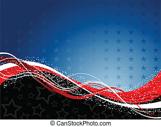 Fourth of July background - Decorative patriotic background...