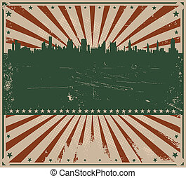 Fourth Of July Background - Illustration of a fourth of july...