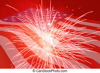 Fourth of July background - Fourth of July holiday...