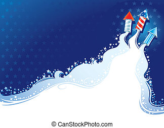 Fourth of July background - vector illustration with...