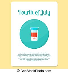 Fourth of July cocktail sticker