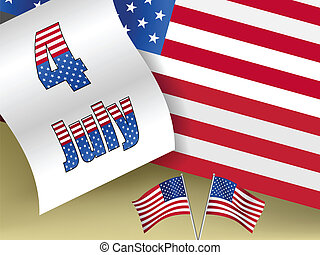 fourth of july - conceptual vector background illustration ...
