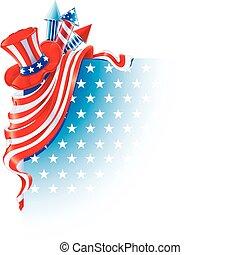 Fourth of July - corner design for Independence Day