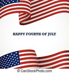 Fourth of July Decorative Flag