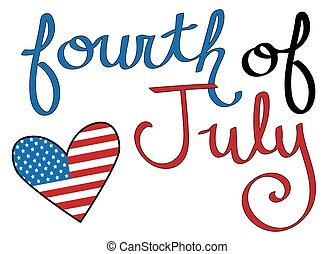 Fourth of July Heart