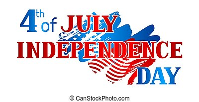 Fourth of July Independence Day banner. American patriotic illustration