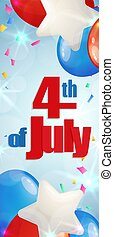 Fourth of July, Independence Day vertical banner