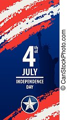 Fourth of july independence day of the usa. EPS10 vector...