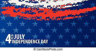 Fourth of july independence day of the usa. EPS10 vector.