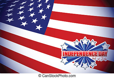 fourth of july, independence day patriotic illustration ...