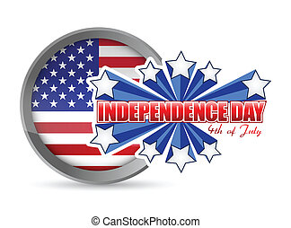 fourth of july, independence day seal