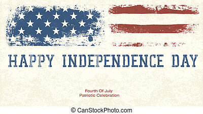 Fourth Of July Patriotic Celebration Background. Vector,...