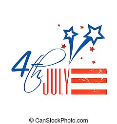 Fourth Of July Shooting Star Background Vector Image