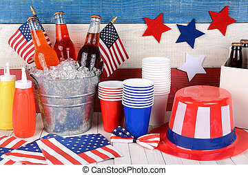 Fourth of July Still Life - Fourth of July still life. A...