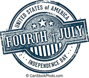 Fourth of July USA Stamp