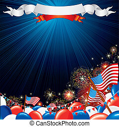 Fourth of July Vector illustration