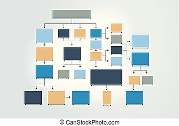 Minimalist company organization hierarchy schema diagram template fowchart chart scheme diagram template infographic ccuart Image collections
