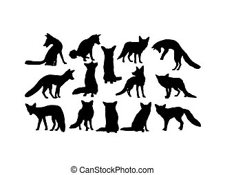 Fox Animal Silhouettes
