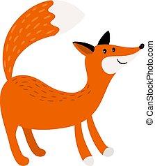 Fox cartoon forest animal icon