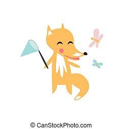 Fox Catching The Butterflies