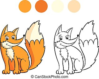 Fox coloring book.