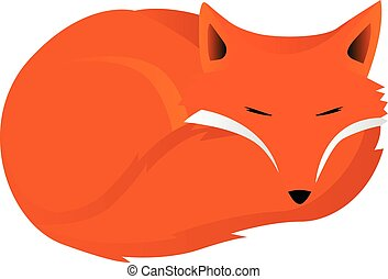 Fox curled up vector illustration