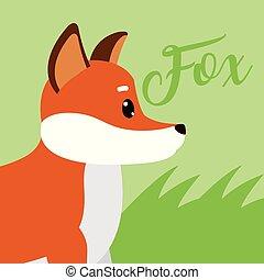 Fox Cute animal cartoon