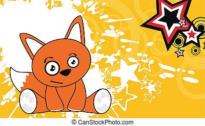 fox cute cartoon baby wallpaper