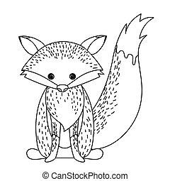 fox cute wildlife icon