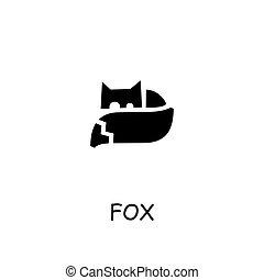 Fox flat vector icon