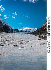 Fox  Glacier in South Island - New Zealand
