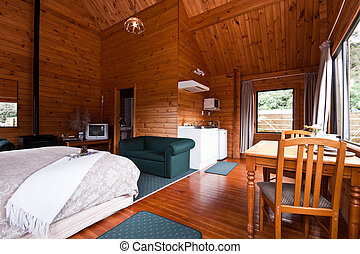 Fox Glacier Lodge apartment Interior - Nice warm interior of...