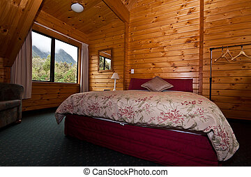 Fox Glacier Lodge Bedroom Interior - Nice warm bedroom ...