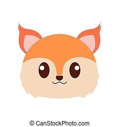 Fox head cartoon