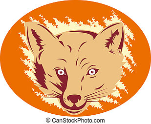 Fox head front view