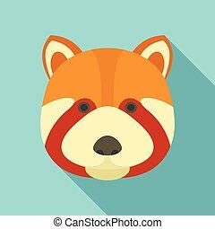 Fox head icon, flat style - Fox head icon. Flat illustration...