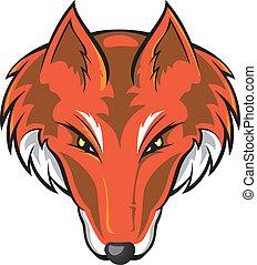 Fox Head - Vector illustration of a fox head