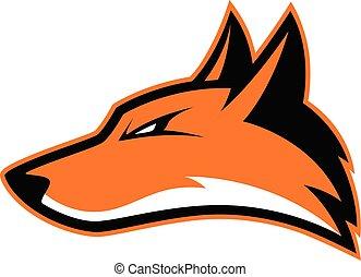 Fox head mascot - Clipart picture of a fox head cartoon...