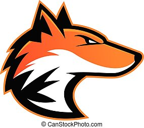 Orange Wolf Clipart Vector Graphics 703 Orange Wolf Eps Clip Art