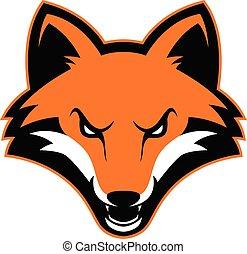 Fox head mascot
