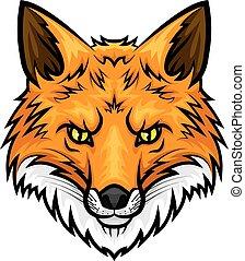 Fox head muzzle or snout vector mascot icon
