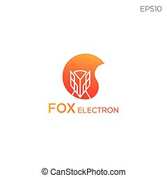 fox line icon or logo business vector illustration