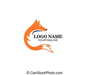 fox logo icon vector template